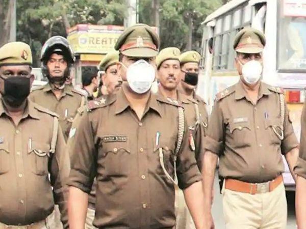 संक्रमण के चलते सबसे ज्यादा मेरठ जोन में 24 पुलिसकर्मियों की जान गई। सिबॉलिक इमेज - Dainik Bhaskar