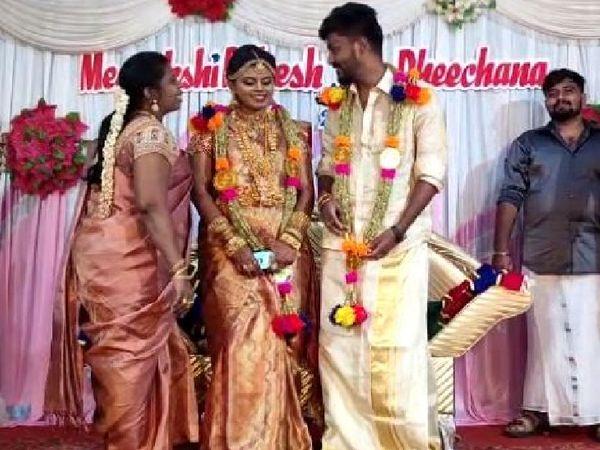 प्रतिबंध के चलते दो दिन पहले कम लोगों के बीच हुई थी शादी।