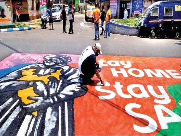 स्थानीय लॉकडाउन, जनता में बीमारी की दहशत से स्थिति सुधरी। - Dainik Bhaskar