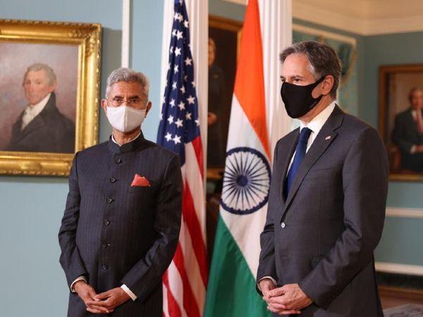 विदेश मंत्री एस जयशंकर अमेरिका के दौरे पर हैं। उन्होंने शुक्रवार को अमेरिकी विदेश मंत्री एंटनी ब्लिंकेन से मुलाकात की थी। - Dainik Bhaskar