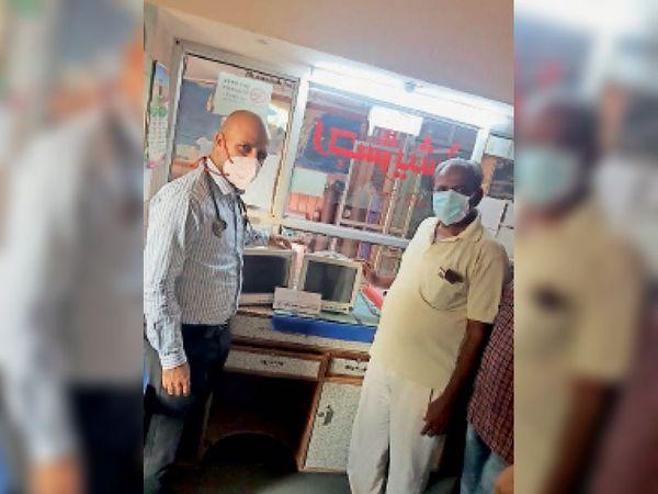 यह माॅनिटर हार्ट के मरीजों की सभी धमनियों की गति का रिकार्ड रखता है । - Dainik Bhaskar