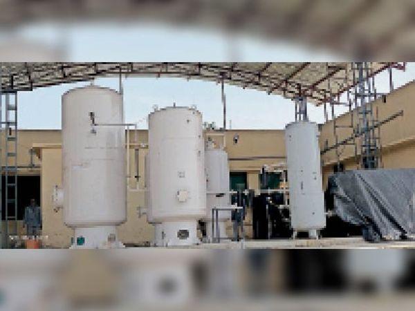 मनासा कोविड केयर सेंटर में तैयार ऑक्सीजन प्लांट। - Dainik Bhaskar