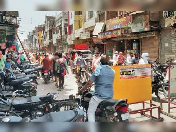 सिरसा। रविवार को ऑड-इवन फार्मूले के तहत खुले बाजार। - Dainik Bhaskar
