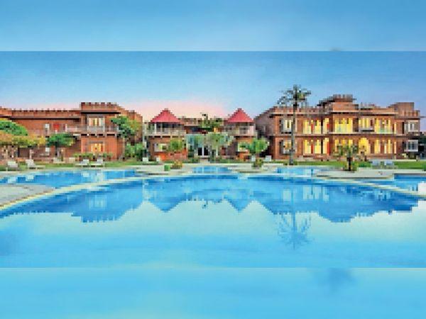 पर्यटकों की आवक बंद होने के कारण सूने पड़े पुष्कर के होटल-रिसोर्ट। - Dainik Bhaskar