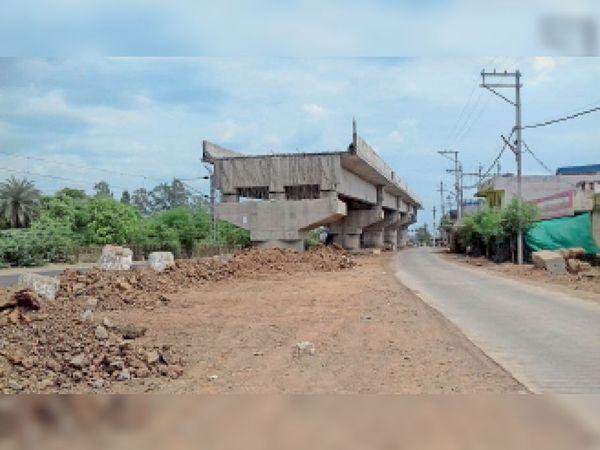 होशंगाबाद । रसूलिया का निर्माणाधीन फ्लाई ओवर ब्रिज। - Dainik Bhaskar
