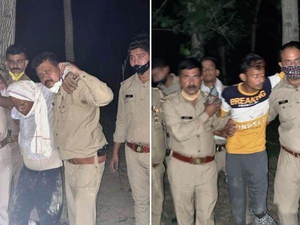 बरेली में एनकाउंटर में जरेली हत्याकांड के 25 व 20 हजार के इनामी गिरफ्तार। - Dainik Bhaskar