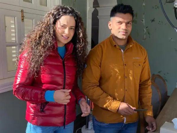 कंगना रनोट और उनका पर्सनल बॉडीगार्ड कुमार हेगड़े। 30 साल ब्यूटीशियन ने हेगड़े पर रेप और धोखाधड़ी का आरोप लगाया है। - Dainik Bhaskar