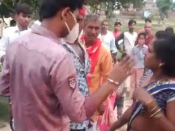 दुल्हन के घर पहुंच महिला ने किया हंगामा। - Dainik Bhaskar
