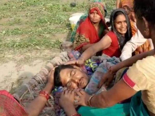जमीनी विवाद में भतीजे को मार दी गोली। - Dainik Bhaskar
