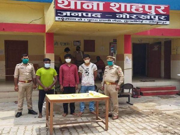 पुलिस मुठभेड़ में तीनों आरोपी गिरफ्तार। - Dainik Bhaskar