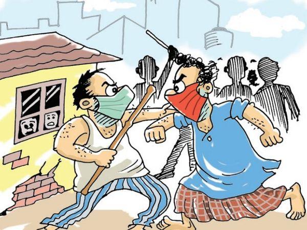 निशातपुरा थाने में पिछले दो महीने में ही पड़ोसियों से झगड़े के 73 से ज्यादा मामले दर्ज। - Dainik Bhaskar