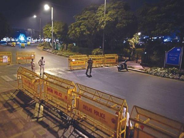 राजधानी दिल्ली में सात जून की सुबह पांच बजे तक के लिए कोरोना कर्फ्यू को बढ़ा दिया गया है। - Dainik Bhaskar
