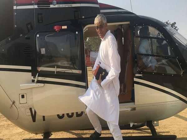 सिंहदेव अक्सर सूरजपुर, सरगुजा इलाके का दौरा सरकारी हैलीकॉप्टर से करते रहे हैं। फाइल फोटो। - Dainik Bhaskar