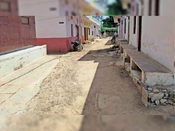 श्री नाथ नगर में बोहरा कब्रिस्तान रोड की हालत ऐसी हो रही है। यहां बारिश के दिनों में परेशानी बढ़ेगी। - Dainik Bhaskar