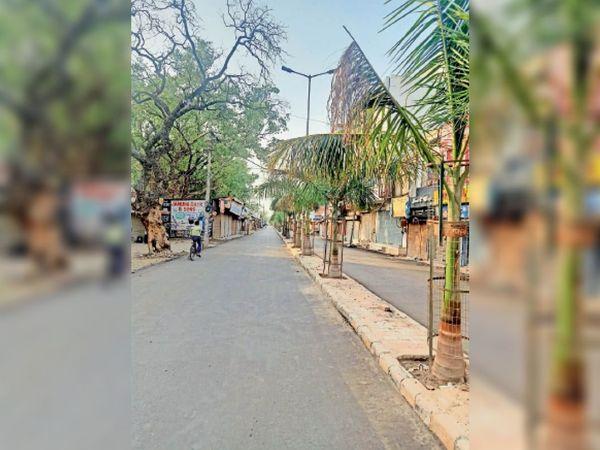 अम्बाला | कैंट की राय मार्केट में नई बनाई गई रोड। - Dainik Bhaskar