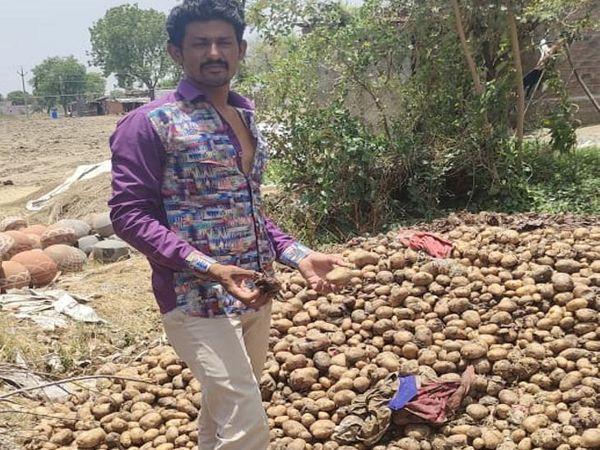 मंडिया बंद होने से किसानों की घर पर रखी आलू प्याज की फसल सड़ने लगी है।