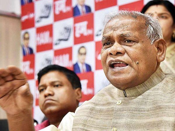 हम पार्टी के प्रमुख और पूर्व मुख्यमंत्री जीतन राम मांझी। - Dainik Bhaskar