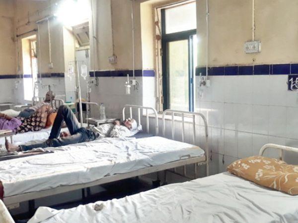 अस्पताल भी सूने। - Dainik Bhaskar