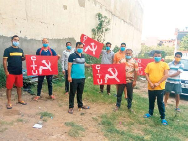 शिमला में ध्वजाराेहण के लिए एकत्रित हुए सीटू कार्यकर्ता - Dainik Bhaskar