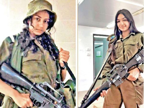 निशा (बाएं) यूनिट हेड है, जबकि रिया कमांडों ट्रेनिंग ले रही है। - Dainik Bhaskar