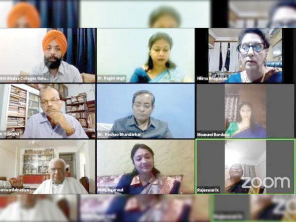 पैनल चर्चा के दौरान रिफ्रेशर व ओरिएंटेशन कोर्स के महत्व पर ध्यान देने काे कहा। - Dainik Bhaskar