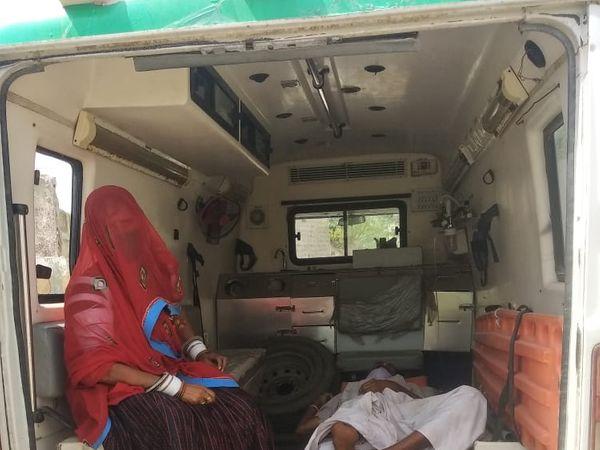 एम्बुलेंस से अस्पताल भेजा गया। - Dainik Bhaskar