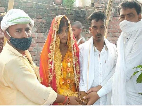 परिजनों की सहमति पर दूल्हे की बहन की शादी के लिए बनाए गए मंडप में प्रेमी-प्रेमिका ने सात फेरे लिए। - Dainik Bhaskar