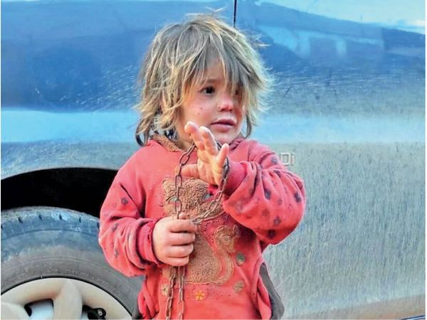 6 साल की नहला अल ओथमान की मरने से कुछ महीने पहले यह तस्वीर ली गई थी। - Dainik Bhaskar