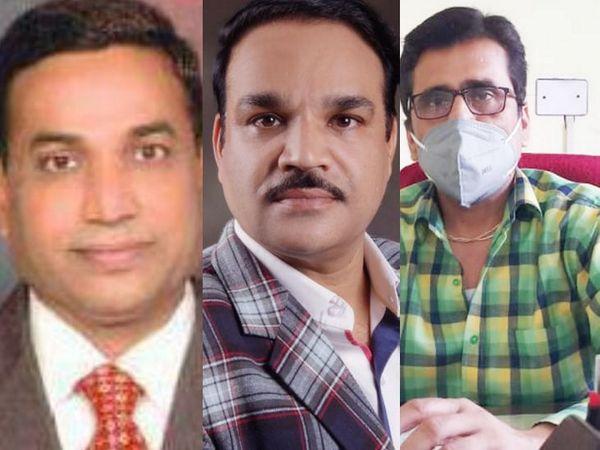 नरेंद्र जैन, डाॅ. अवनीश पाण्डेय और राम मोहन तिवारी।