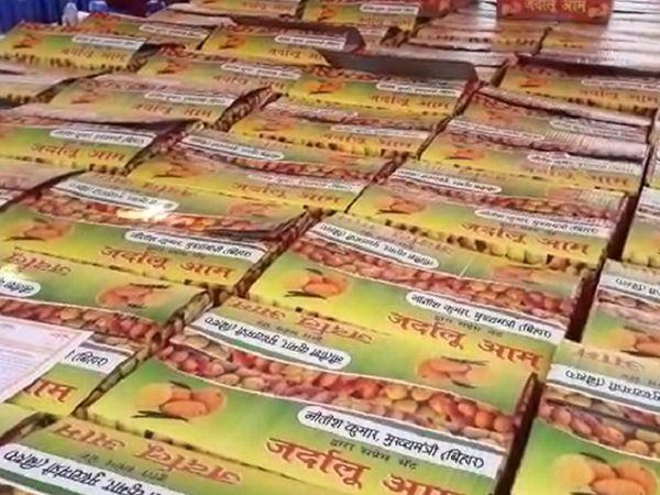बिहार CM की ओर से दिल्ली भेजे जा रहे प्रत्येक पैकेट्स में 20 जर्दालु आम हैं। - Dainik Bhaskar