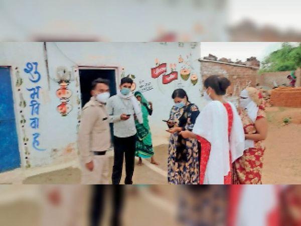 पृथ्वीपुर  टीम ने गांव में पहुंचकर नाबालिग की रुकवाई शादी। - Dainik Bhaskar