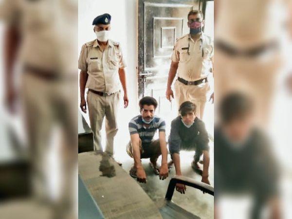 वृद्ध के साथ लूटपाट करने वाले आरोपी पुलिस गिरफ्त में। - Dainik Bhaskar