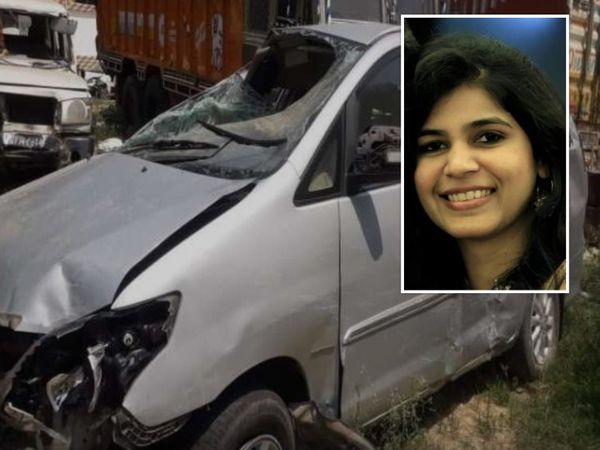 बेकाबू होकर डिवाइडर से टकराई कार, पब्लिकेशन हाउस में शुमार रतन प्रकाशन के मालिक की पत्नी की मौत। - Dainik Bhaskar