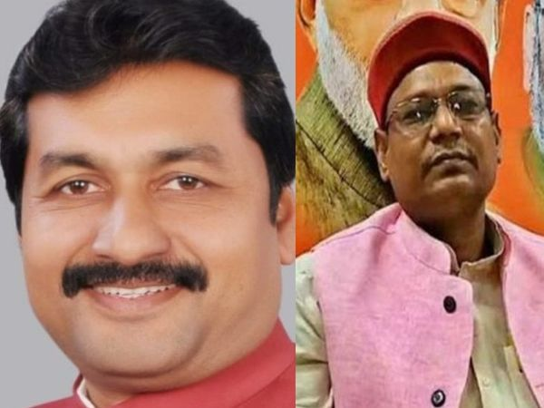 कांग्रेस कमिटी के मीडिया विभाग के चेयरमैन राजेश राठौड़ और BJP प्रवक्ता प्रेम रंजन पटेल। - Dainik Bhaskar