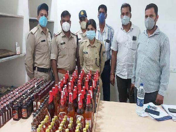 क्राइम ब्रांच ने भरतीपुर में दबिश देकर शराब व गांजा जब्त किए। - Dainik Bhaskar