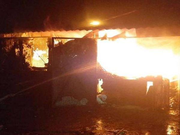 कानपुर में बेकरी की दुकान में  आग लग गई। - Dainik Bhaskar