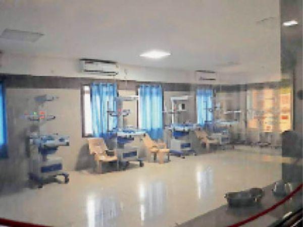 जिला अस्पताल का चाइल्ड वार्ड। - Dainik Bhaskar