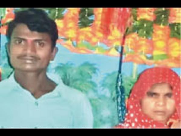 पिता की हत्या के आरोपी बेटा-बहू - Dainik Bhaskar