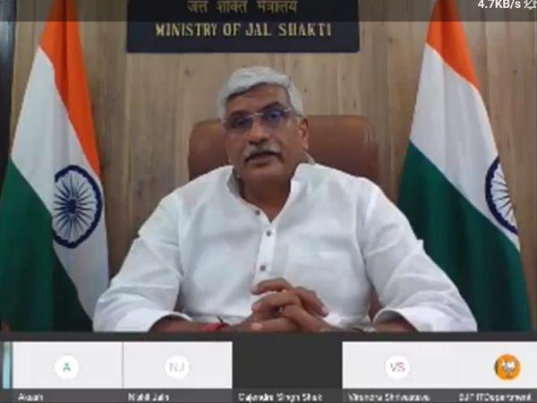 केंद्रीय जलशक्ति मंत्री गजेंद्र सिंह शेखावत। - Dainik Bhaskar