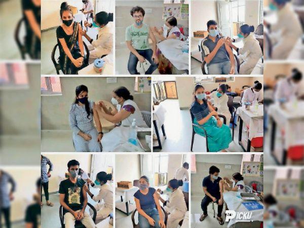 आईसीएआई भीलवाड़ा की ओर अपने सदस्यों के लिए वैक्सीनेशन कराया गया। - Dainik Bhaskar