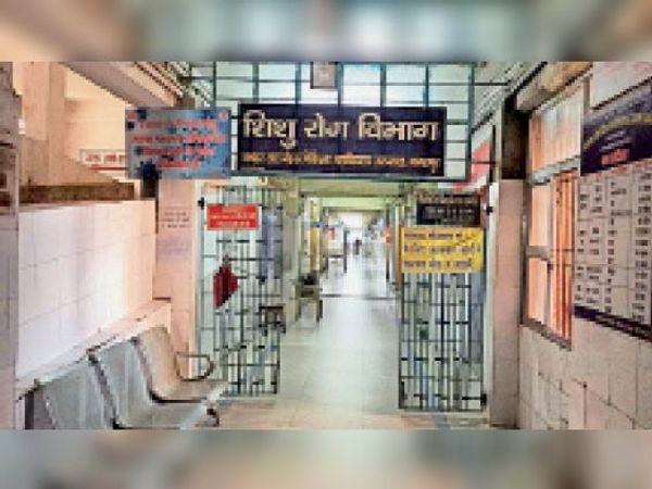 मायागंज के शिशु रोग विभाग की आईसीयू में ही हैं सिर्फ 8 बेड। - Dainik Bhaskar