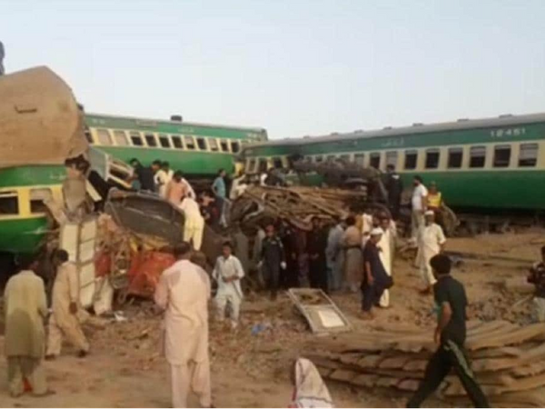 Eight bogies of Millat Express derailed uncontrollably and fell on the other track.