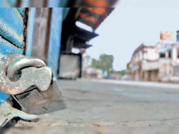 पूरा बाजार लॉक - Dainik Bhaskar