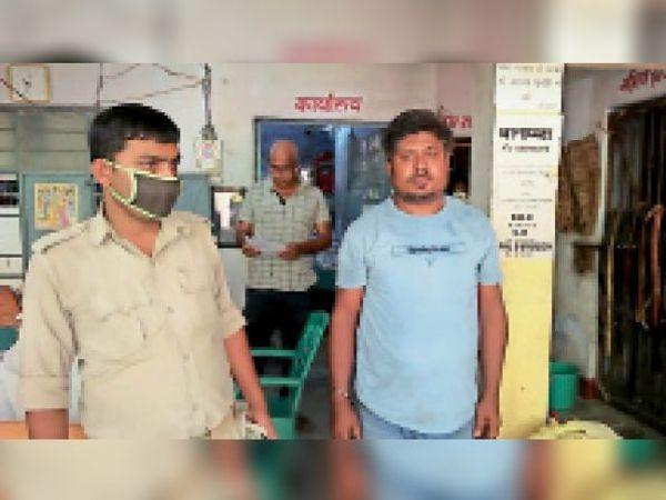 बिदुपुर थाना द्वारा गिरफ्तार शराब तस्कर। - Dainik Bhaskar