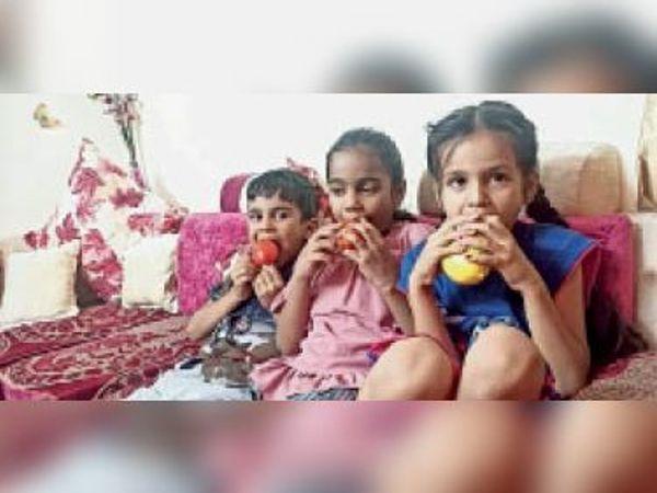 बच्चों को विटामिन युक्त खाना और फल खिलाएं। - Dainik Bhaskar