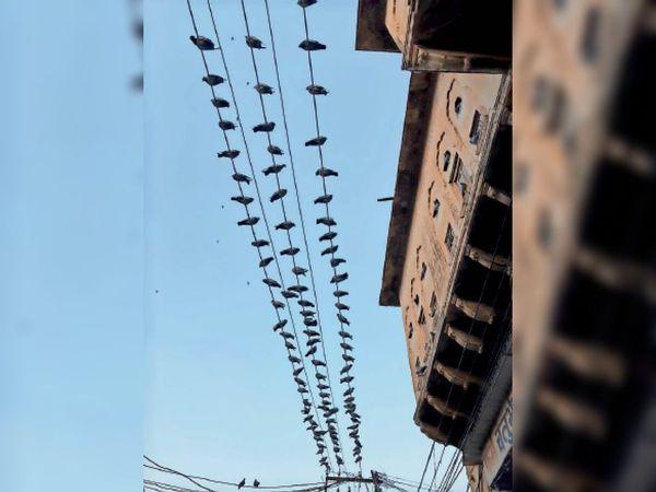 फोटो शहर के घंटाघर क्षेत्र का। - Dainik Bhaskar