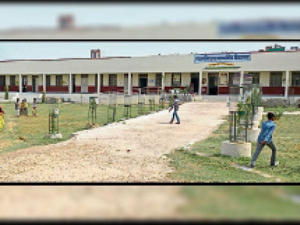 गवर्नमेंट सीनियर सेकेंडरी स्कूल श्रीनाथपुरम बी सेक्टर। - Dainik Bhaskar