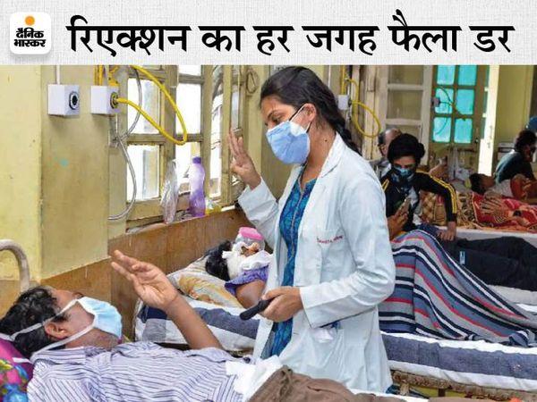 जबलपुर मेडिकल कॉलेज में ब्लैक फंगस के इंजेक्शन का हुआ रिएक्शन। - Dainik Bhaskar