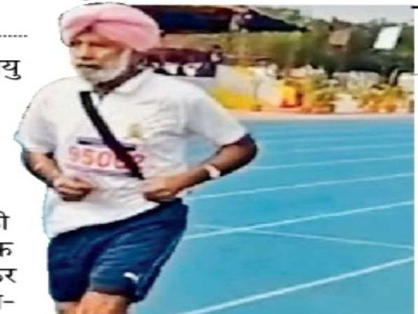 जगतार सिंह, जो अपना 100वां जन्मदिन रनिंग करके मनाना चाहते हैं। - Dainik Bhaskar