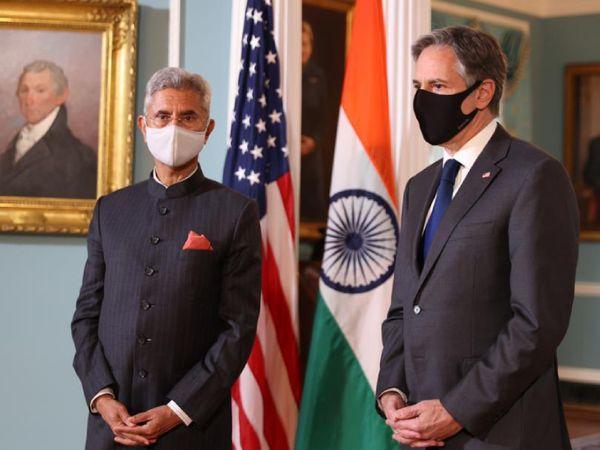 अमेरिका के विदेश मंत्री एंटोनी ब्लिंकेन के साथ भारत के विदेश मंत्री एस. जयशंकर।